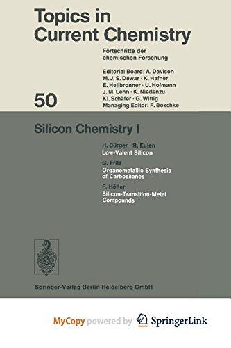 9783662159453: Silicon Chemistry I