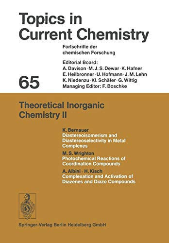 Theoretical Inorganic Chemistry II: Friedrich L. Boschke