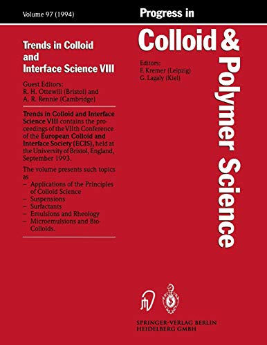 9783662160367: Trends in Colloid and Interface Science VIII (Progress in Colloid and Polymer Science)