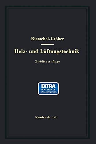 9783662233900: H. Rietschels Lehrbuch Der Heiz- Und Luftungstechnik