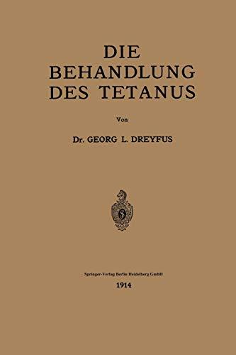 9783662242292: Die Behandlung des Tetanus