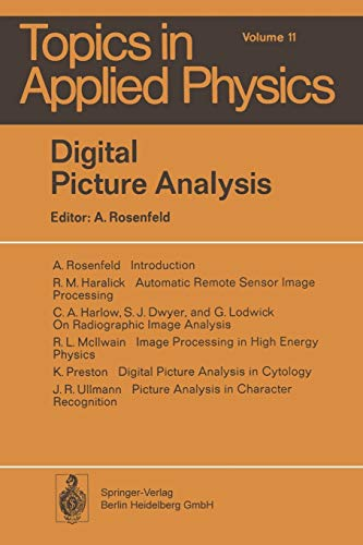9783662309056: Digital Picture Analysis (Topics in Applied Physics) (Volume 11)