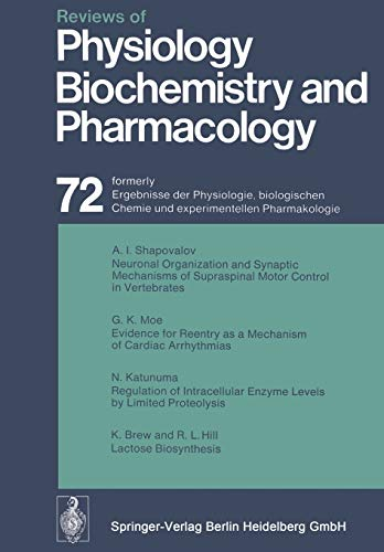 Reviews of Physiology, Biochemistry and Pharmacology: Weber, A., Vogt, W., Ullrich, K., ...