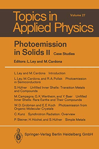 9783662311776: Photoemission in Solids II: Case Studies (Topics in Applied Physics)