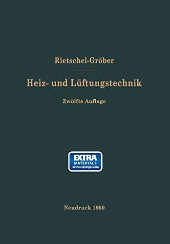 9783662374047: H. Rietschels Lehrbuch der Heiz- und Lüftungstechnik