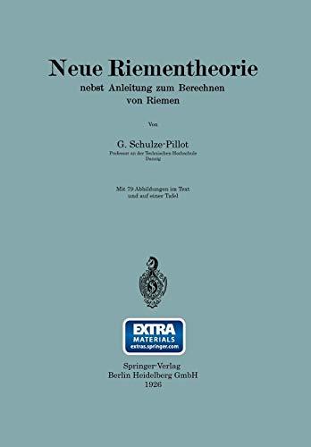 9783662387719: Neue Riementheorie