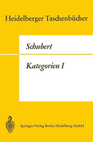 9783662389225: Kategorien (Heidelberger Taschenbücher) (German Edition)