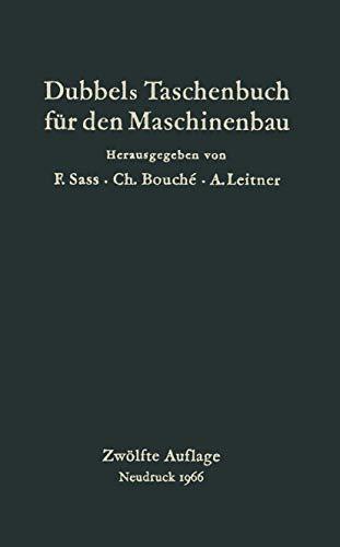 9783662408223: Dubbels Taschenbuch für den Maschinenbau