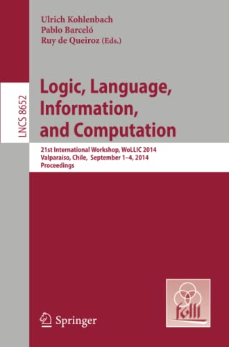 Logic, Language, Information, and Computation: Ulrich Kohlenbach