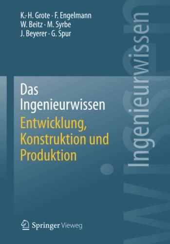 9783662443927: Das Ingenieurwissen: Entwicklung, Konstruktion und Produktion (German Edition)