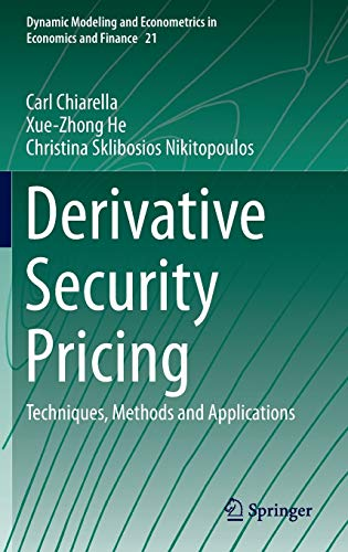 9783662459058: Derivative Security Pricing: Techniques, Methods and Applications (Dynamic Modeling and Econometrics in Economics and Finance)