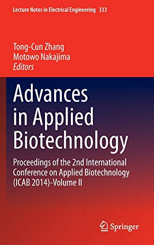 Advances in Applied Biotechnology: Tong-Cun Zhang