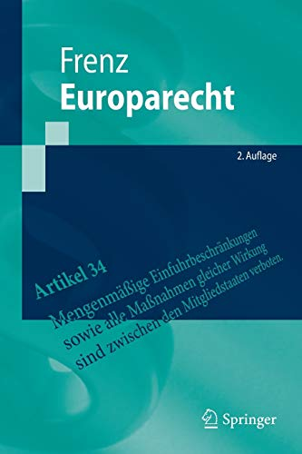 9783662471838: Europarecht (Springer-Lehrbuch) (German Edition)