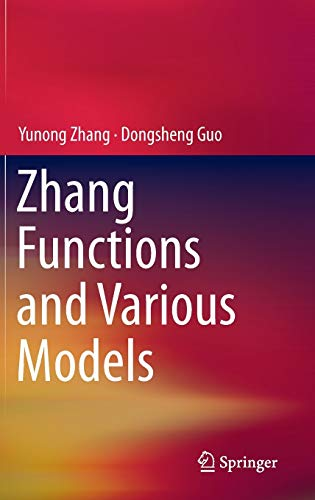 9783662473337: Zhang Functions and Various Models
