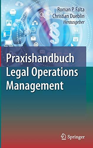 9783662505052: Praxishandbuch Legal Operations Management
