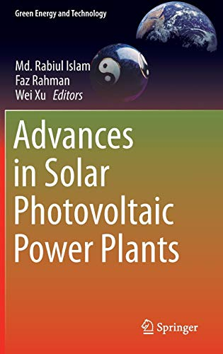Advances in Solar Photovoltaic Power Plants (Green Energy and Technology): Springer
