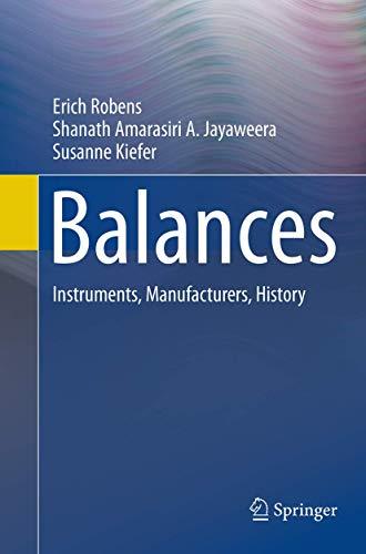 9783662509418: Balances: Instruments, Manufacturers, History
