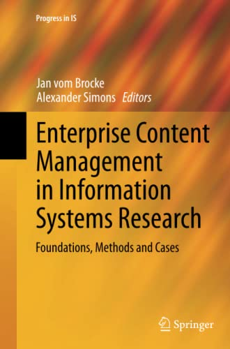 9783662524558: Enterprise Content Management in Information Systems Research: Foundations, Methods and Cases (Progress in IS)