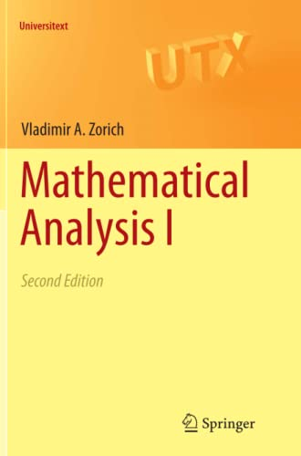 9783662569559: Mathematical Analysis I (Universitext)