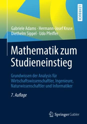 Mathematik Zum Studienbeginn