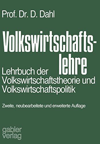 9783663000976: Volkswirtschaftslehre: Lehrbuch der Volkswirtschaftstheorie und Volkswirtschaftspolitik (German Edition)