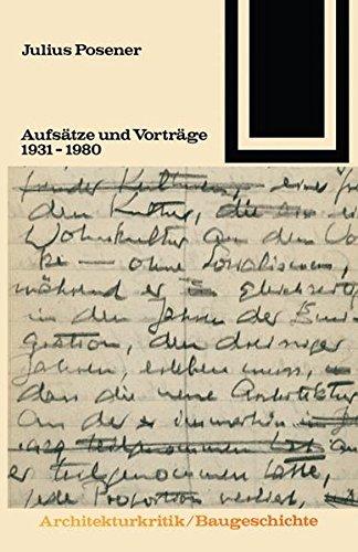 9783663001157: Aufsätze und Vorträge 1931 – 1980 (Bauwelt Fundamente)