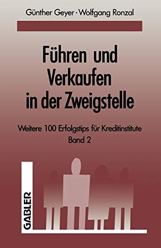 9783663013525: Fuhren Und Verkaufen in Der Zweigstelle: Band 2
