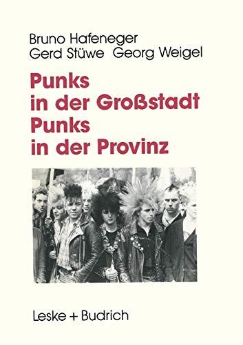 9783663015062: Punks in der Großstadt - Punks in der Provinz: Projektberichte aus der Jugendarbeit