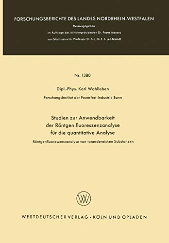 Studien zur Anwendbarkeit der Rà ntgen-fluoreszenzanalyse für die ...