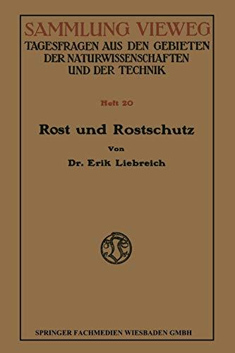 9783663066750: Rost und Rostschutz (Sammlung Vieweg) (German Edition)