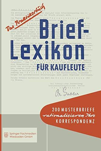 9783663127277: Brief-Lexikon für Kaufleute (Brief-Lexikon-Reihe)