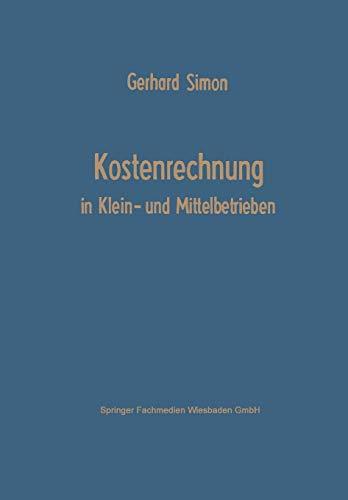 9783663146933: Kostenrechnung in Klein- und Mittelbetrieben (German Edition)
