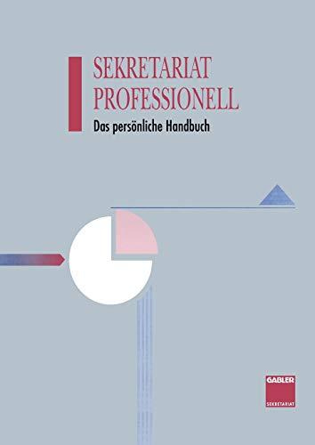 9783663192701: Sekretariat Professionell: Das Personliche Handbuch