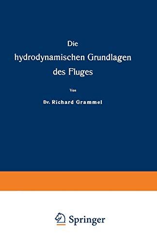 9783663198994: Die Hydrodynamischen Grundlagen Des Fluges