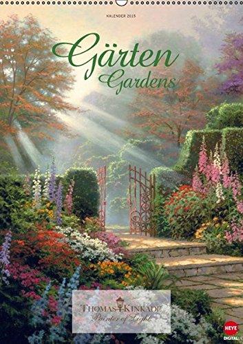 9783664028689: Thomas Kinkade: Gärten - Wandkalender 2015