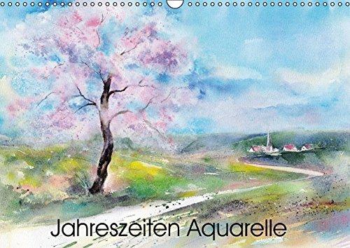 9783664116645: Jahreszeiten Aquarelle (Wandkalender 2016 DIN A3 quer): Mit Aquarellen durchs Jahr (Monatskalender, 14 Seiten)