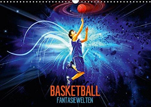 9783664143078: Basketball Fantasiewelten (Wandkalender 2016 DIN A3 quer)