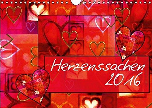 9783664174355: Herzenssachen (Wandkalender 2016 DIN A4 quer): ein Kalender mit ganz viel Herz (Monatskalender, 14 Seiten)