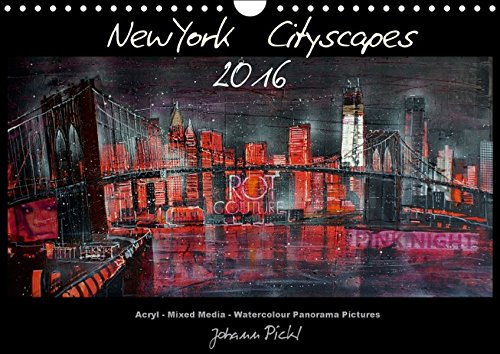9783664239603: New York Cityscapes 2016 (Wandkalender 2016 DIN A4 quer): New York Cityscapes in Panoramaformat (Monatskalender, 14 Seiten)
