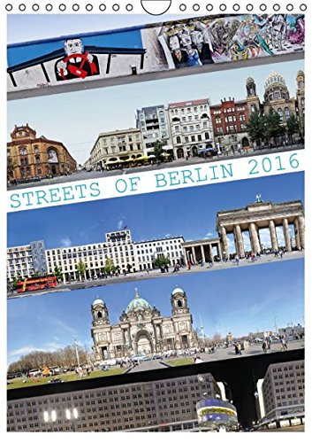 9783664241361: Streets of Berlin 2016 - Wandkalender 2016