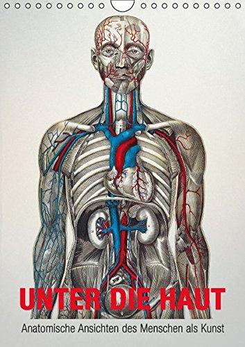 9783664263257: Unter die Haut (Wandkalender 2016 DIN A4 hoch): Anatomische Ansichten des Menschen als Kunst (Monatskalender, 14 Seiten)