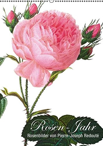 9783664266357: Rosen-Jahr (Wandkalender 2016 DIN A2 hoch): Rosenbilder von Pierre-Joseph Redouté (Monatskalender, 14 Seiten)