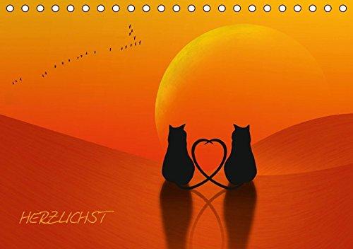 9783664332090: HERZLICHST (Tischkalender 2016 DIN A5 quer): Herzen sind das Symbol der Liebe. (Monatskalender, 14 Seiten)