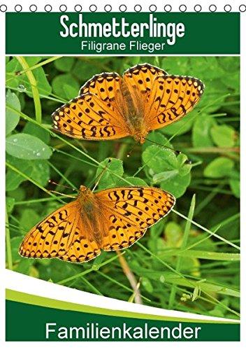 9783664426676: Schmetterlinge: Filigrane Flieger / Familienkalender (Tischkalender 2016 DIN A5 hoch): Das Glück ist wie ein Schmetterling (Familienplaner, 14 Seiten)