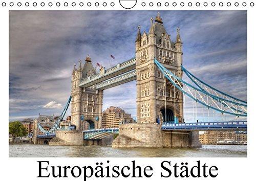 9783664432806: Europäische Städte (Wandkalender 2016 DIN A4 quer): Städtebilder quer durch Europa (Monatskalender, 14 Seiten)