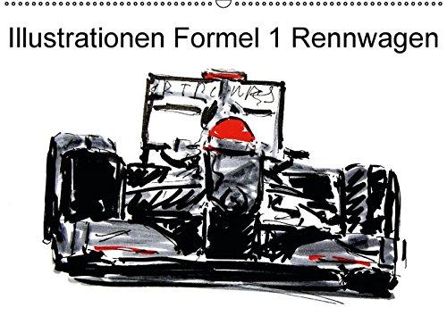 9783664441747: Illustrationen Formel 1 Rennwagen (Wandkalender 2016 DIN A2 quer): Farbig gezeichnete Formel 1 Rennwagen (Monatskalender, 14 Seiten)