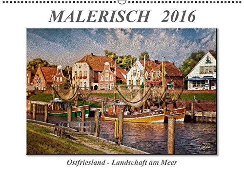 9783664457328: Malerisch - Ostfriesland, Landschaft am Meer - Wandkalender 2016