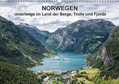 9783664496907: Norwegen - Unterwegs im Land der Berge, Trolle und Fjorde - Wandkalender 2016