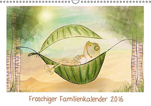9783664541973: Froschiger Familienkalender 2016 - Wandkalender 2016