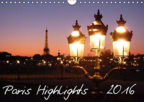 9783664557738: Paris Highlights Wandkalender 2016 DIN A3 quer (Wandkalender 2016 DIN A4 quer): Paris Wandkalender A3 mit Highlights der französischen Hauptstadt (Monatskalender, 14 Seiten)